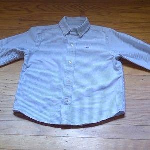 Vineyard Vines Boys Oxford Whale Shirt 3T striped